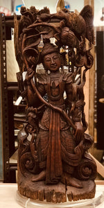 Thai Wood Carving on Lucite Stand