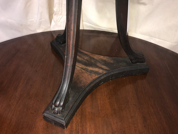 19th century cane & walnut plant stand