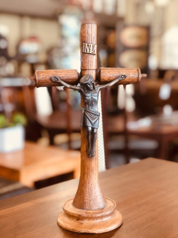 Antique Wood Crucifix