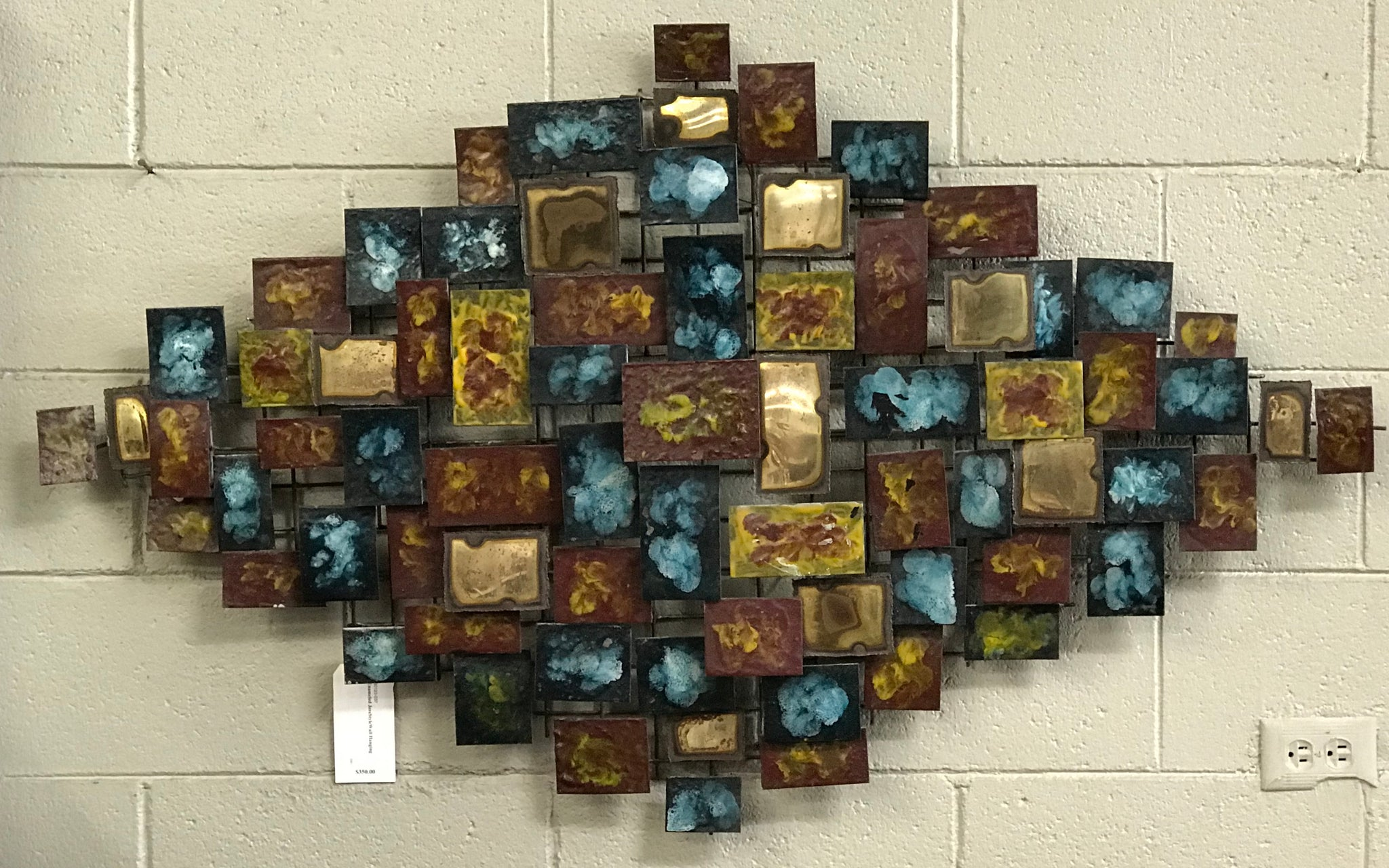 Enameled Jere Style Wall Hanging