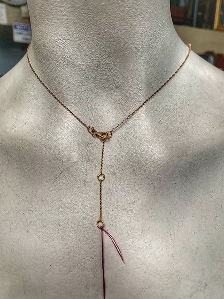 Natural Faceted Labradorite Gold Plate Y Necklace