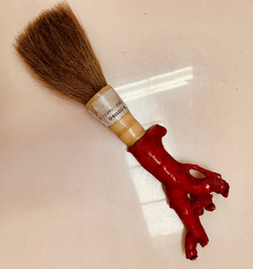 Vintage red coral calligraphy brush
