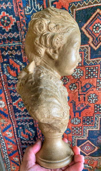Vintage 18th Century Style Le Brun Bust of a Boy