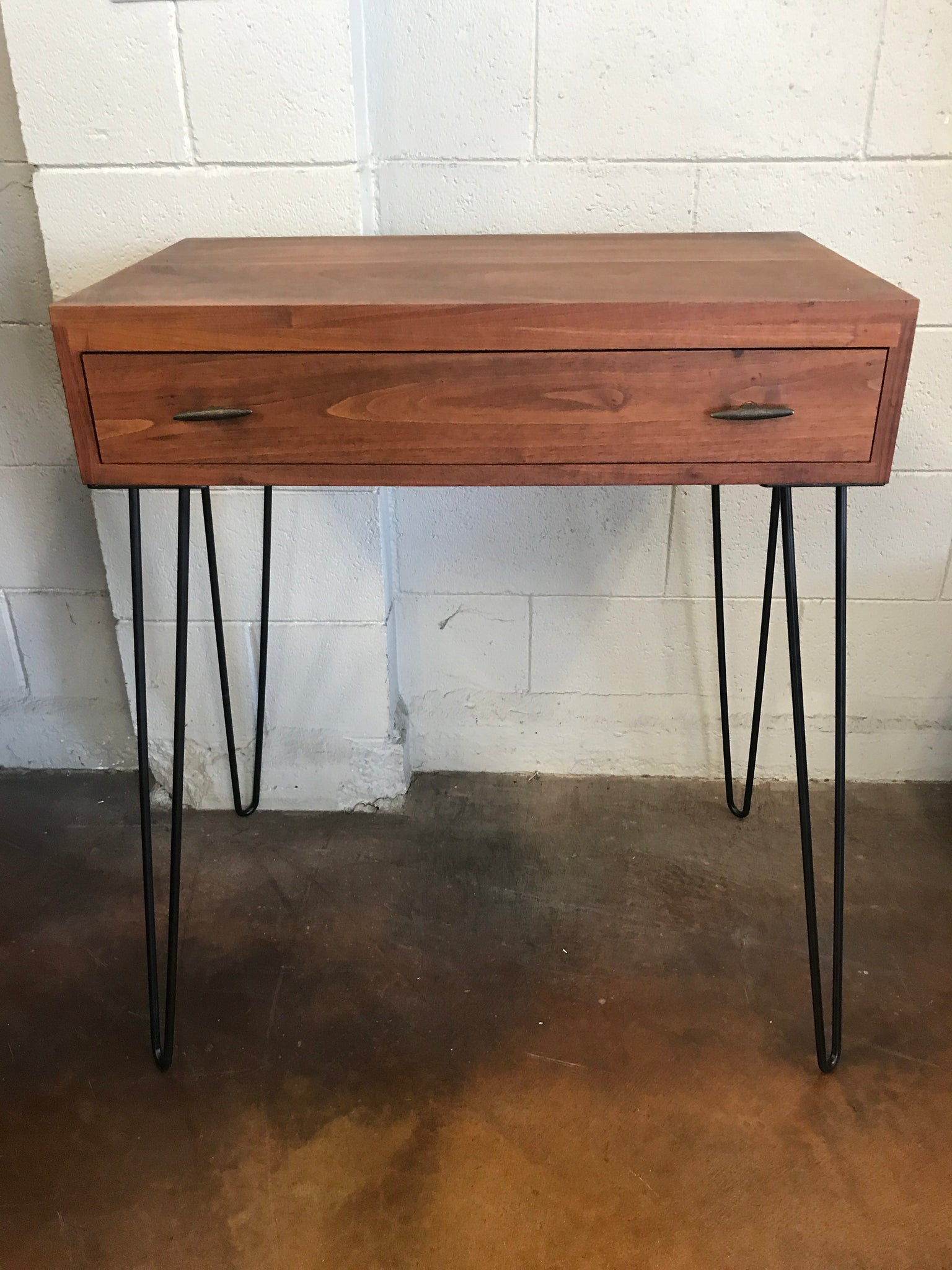 Mid-Century modern 1 Drawer Cabinet on hair pin Legs
