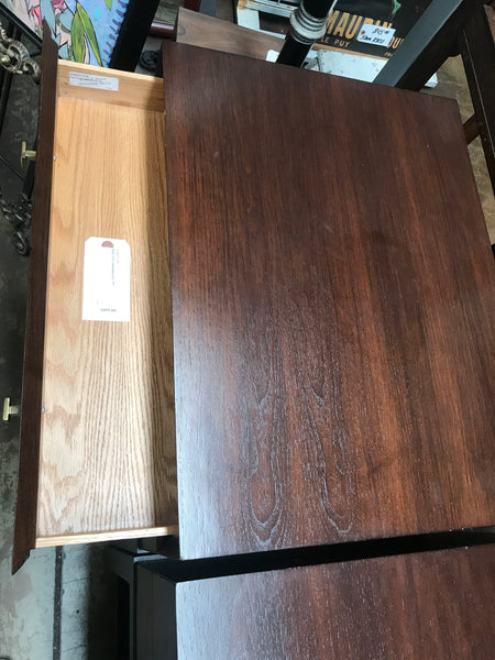 Pair of walnut contemporary Nightstands