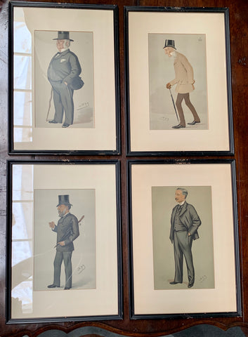 Set of 4 Vintage Spy Men of the Day Prints