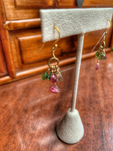 Rainbow Tourmaline Dangle Earrings