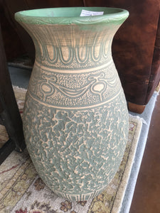 Large pottery floor vase