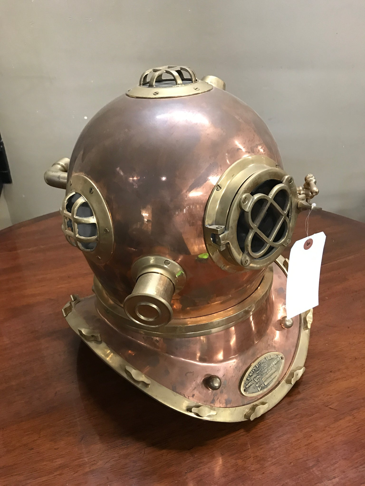 Reproduction Copper US Navy Diving Helmet
