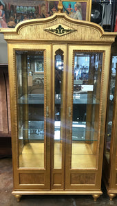 Gilded display cabinet by Drexel