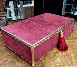 Red Velvet and Brass Tasseled Box