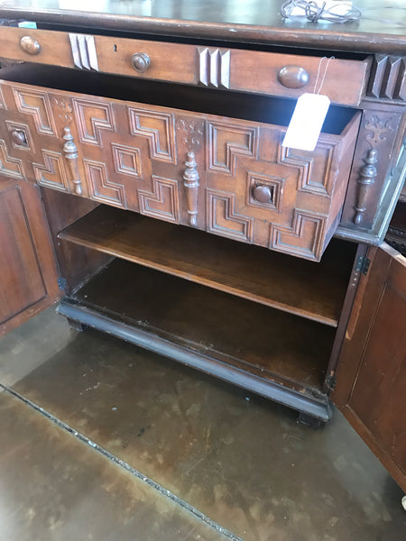 1930's Spanish style walnut chest