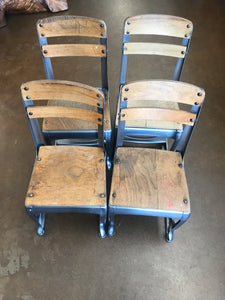 Set of 4 child school chairs