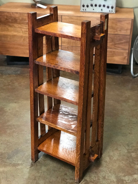Small Antique oak arts & crafts bookcase