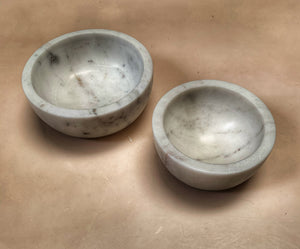 White Marble Bowls in Assorted Sizes