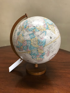 Mid-Century Modern Table Top Globe with Teak Wood Base