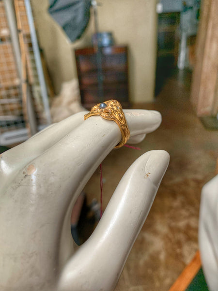 Forager Gold and Pearl Ring