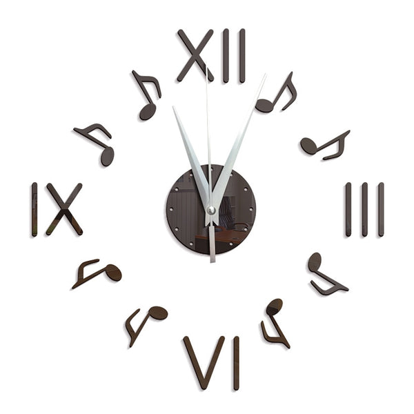 Clock Notes Wall Clock - Keep your Time and Rhythm up to Beat!