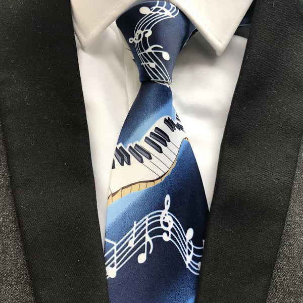 Royal Blue Musical Note Tie