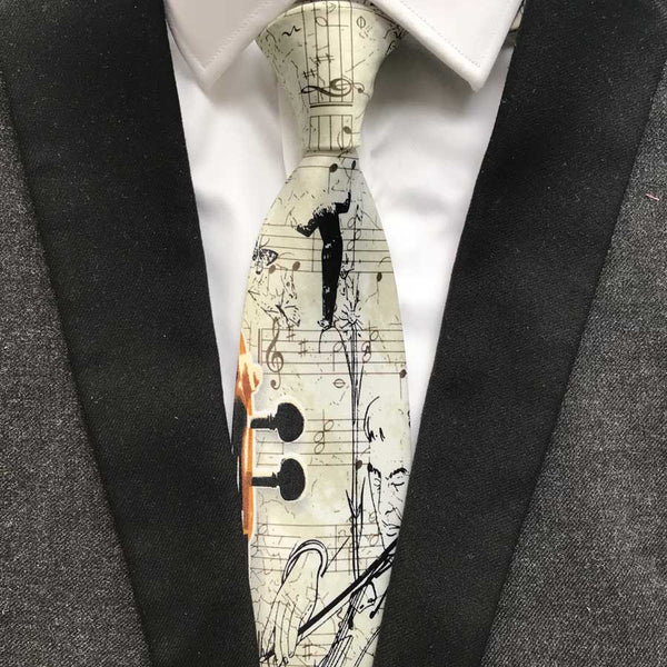 Classic Violin Tie for Formal Elegance