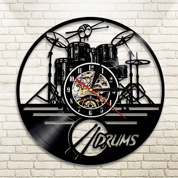 Vinyl Record Drum Wall Clock - The style you've always wanted