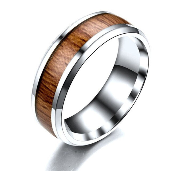 Luthier Inspired Ring - Audacious Dark-Red Wood Crafting
