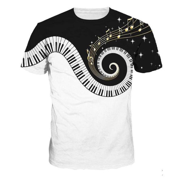 Piano Swirl T-Shirt - Bring the Fun to Your Wardrobe