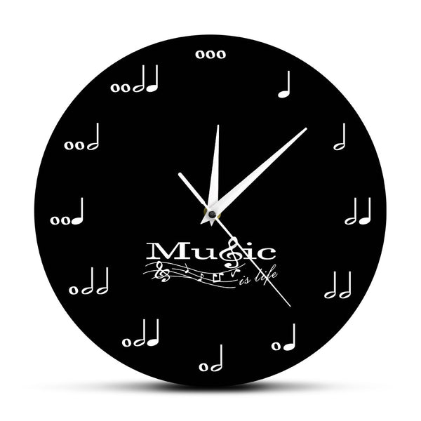 Music Is Life Inspirational Wall Clock