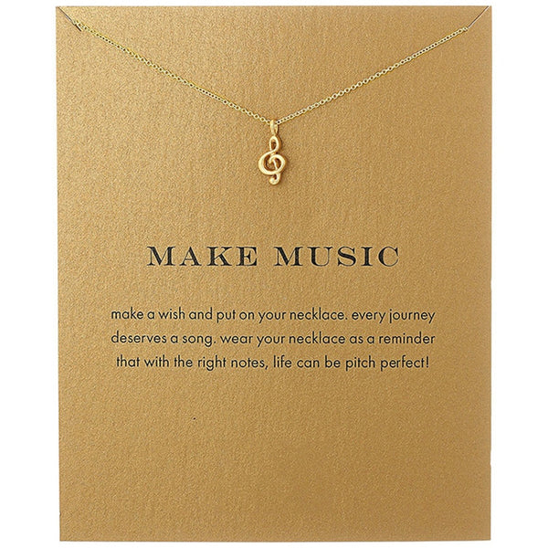 Pendant Necklace MAKE MUSIC