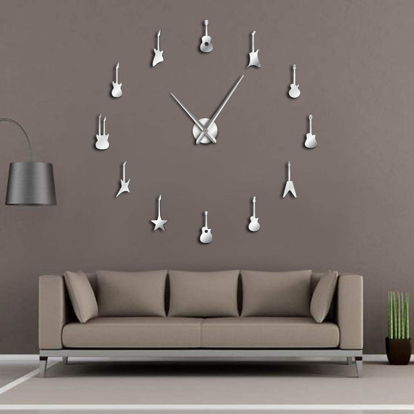 Rock N Roll Guitars Wall Clock - Elegance and Class Combined