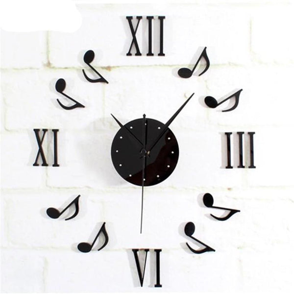 Musical Note and Roman Numeral  Wall Clock