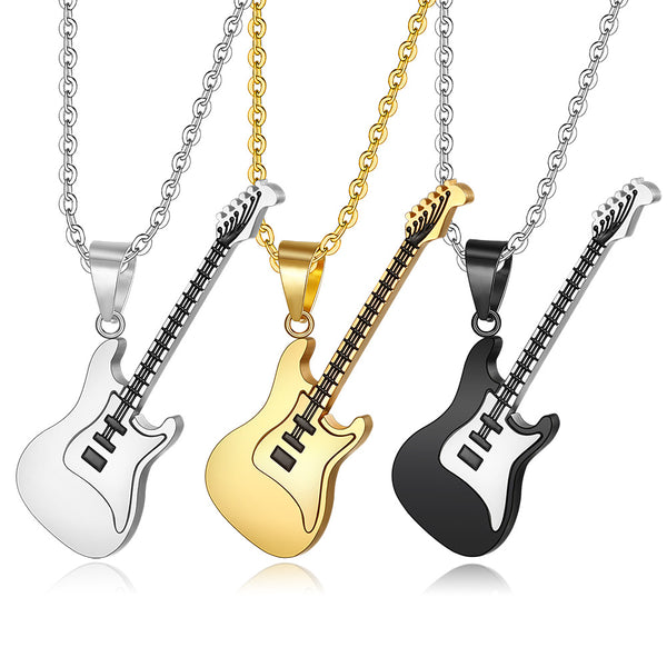 Rock  Guitar Pendant - Combine the Extremes: Elegance and Rock Guitar