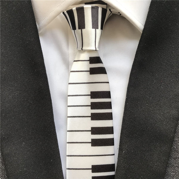 Elegant and Chic Piano Keyboard Tie