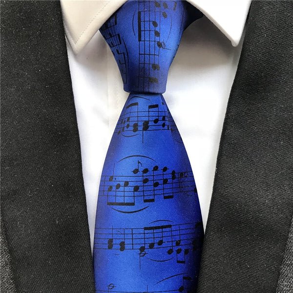 Music Pattern Necktie Musical