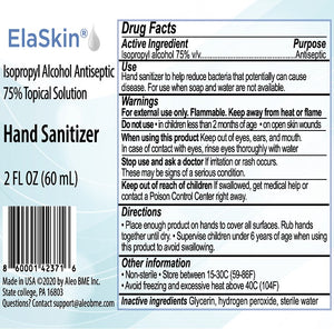 Elaskin® IPA Antiseptic 75% Topical Solution, Hand Sanitizer, 2pk, 1-4 Oz
