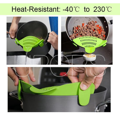 Clip on Silicone Rice Strainer