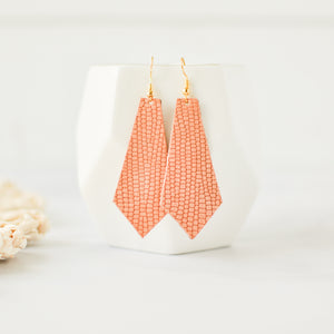 Coral Reptile Elysia Earrings