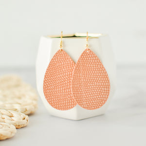 Coral Reptile Kingsley Earrings
