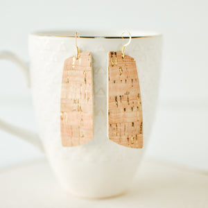 Natural Cork & Gold Aria Earrings