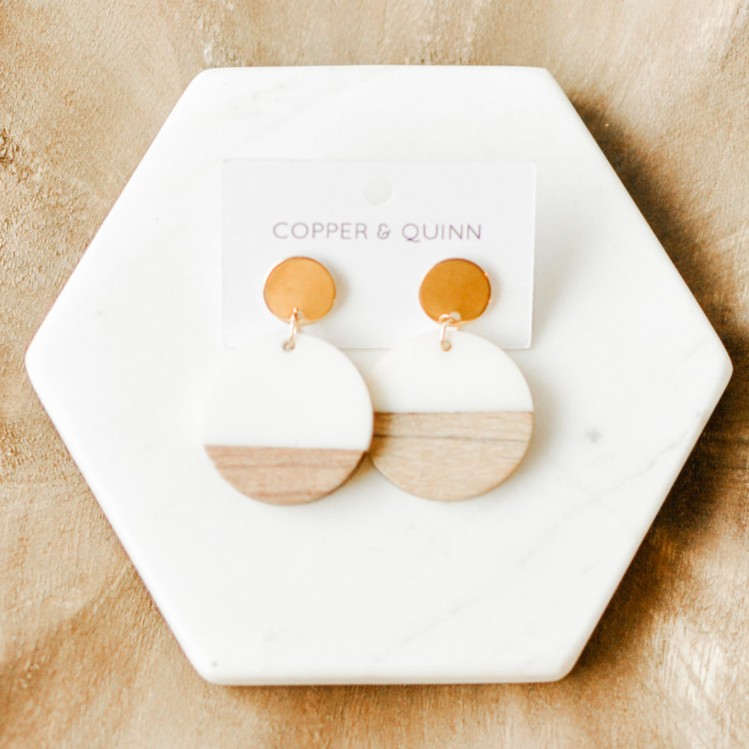 Deja Disc Earrings