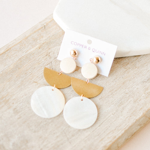 Harper Geo Pendant Earrings