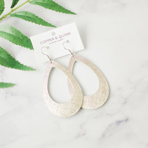 Platinum Saffiano Ivy Earrings