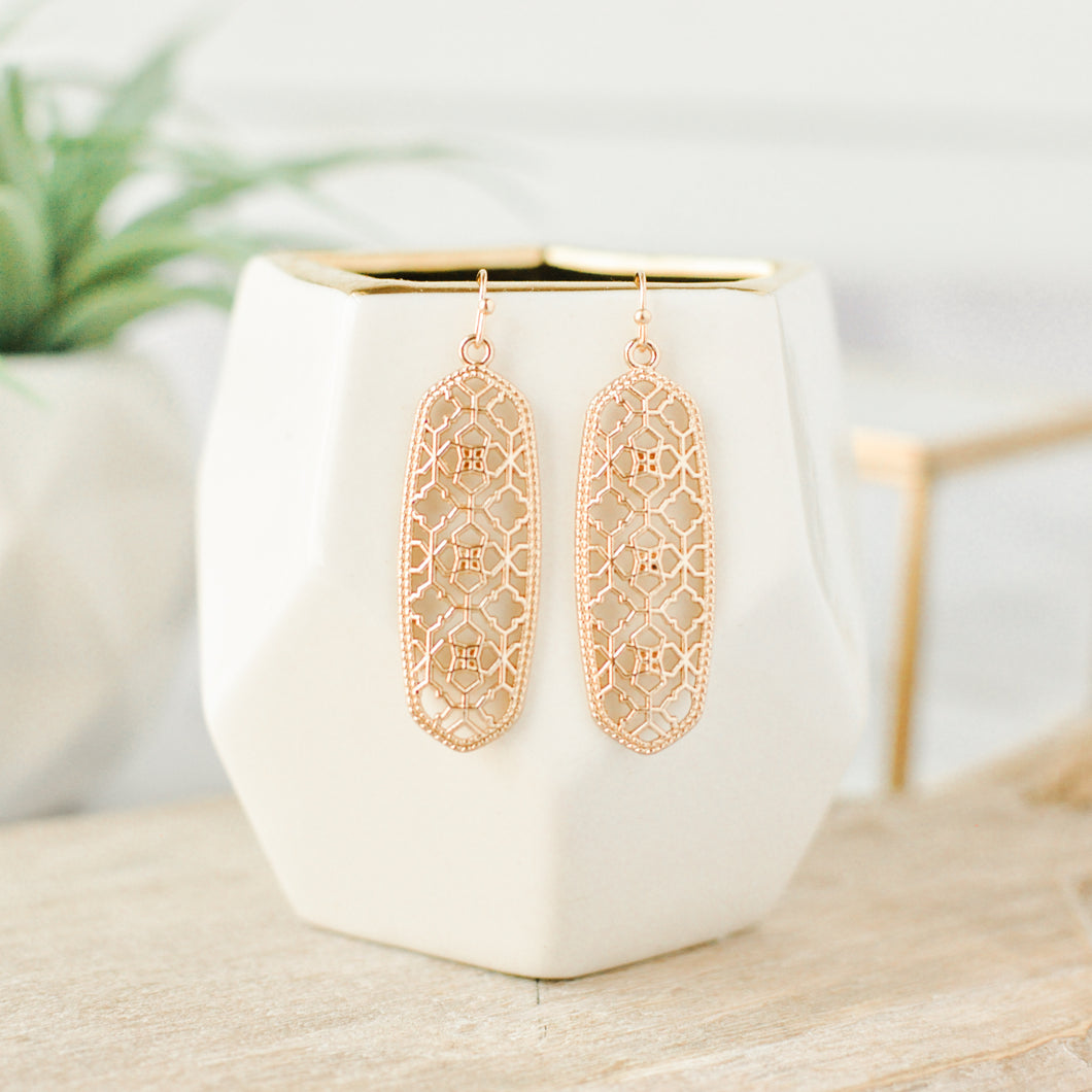 Gold Medina Bar Earrings