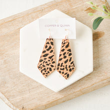 Load image into Gallery viewer, Cheetah Cork Elysia Earrings