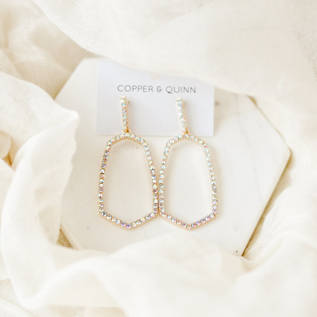 Opalescent Ellie Hoop Earrings