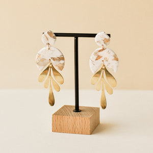 Quartz Pandora Clay Earrings