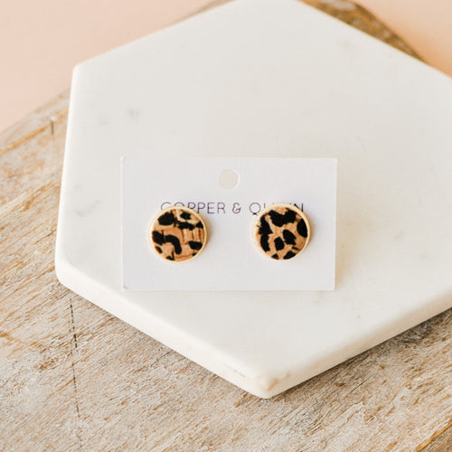 Cheetah Leather Studs