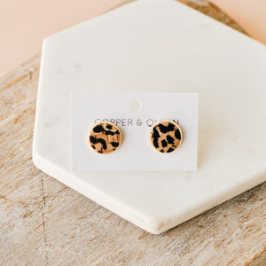 Cheetah Cork Studs