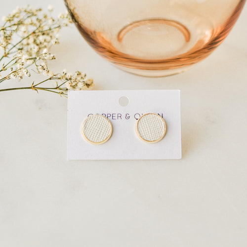 Eggshell Leather Studs