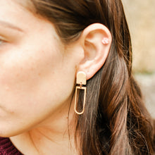Load image into Gallery viewer, Beige Riley Clay Earrings